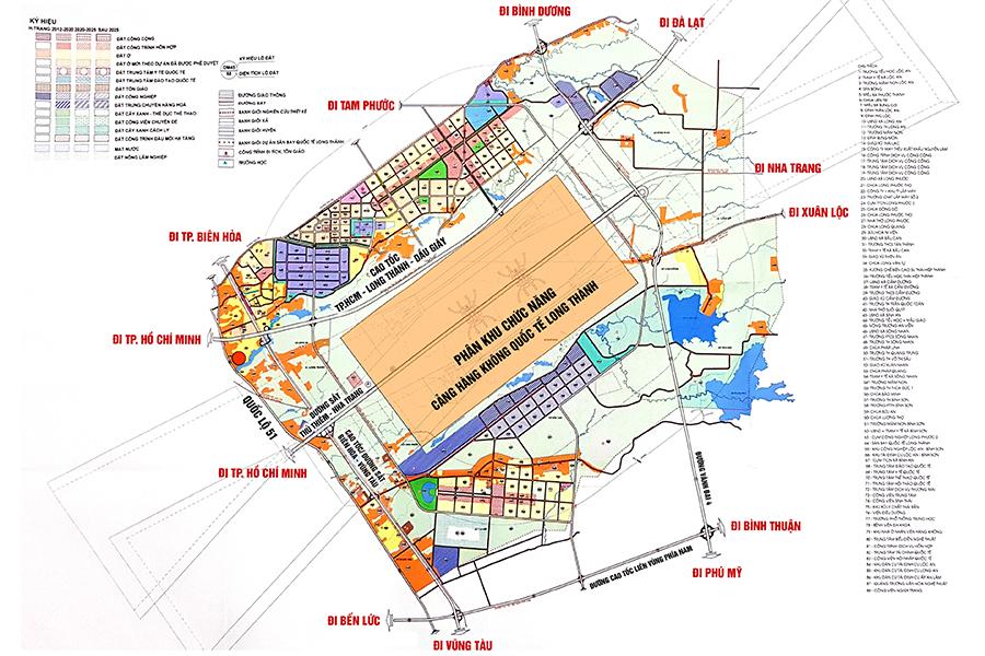 bản đồ quy hoạch sân bay long thành