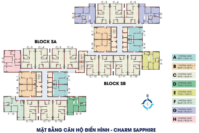 Mặt bằng căn hộ Charm City