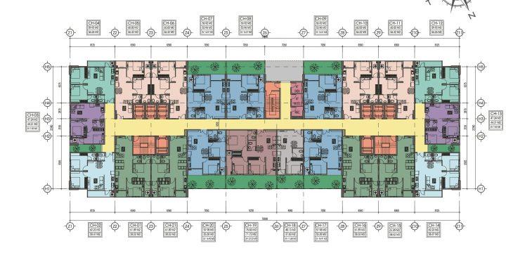 Thiết kế Căn hộ Chung cư Bình Dương giá 1 tỷ/ căn 2 Phòng ngủ – Tecco Home