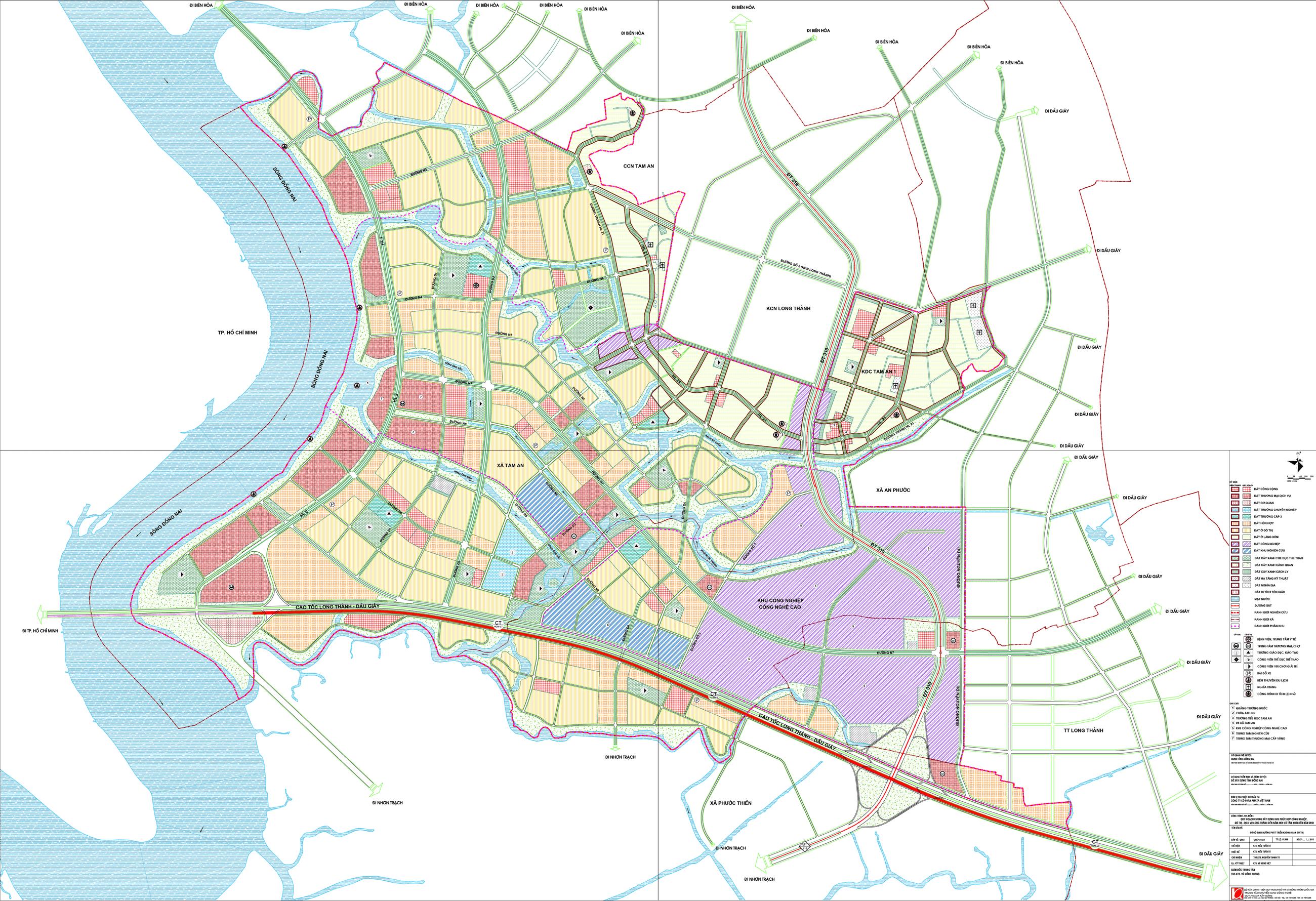 vị trí dự án amata city long thành