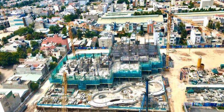 Hình ảnh thi công thực tế dự án Charm City Dĩ An 04/2020