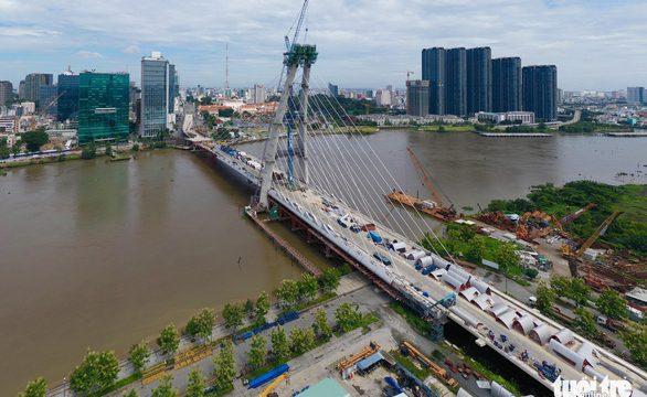 Cầu Thủ Thiêm 2 dự kiến hoàn thành vào 30-04-2022